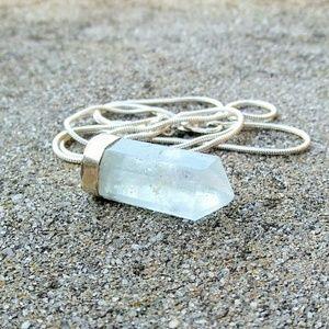 Genuine Aquamarine Crystal Reiki Healing 925 SS